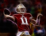 49ers Posters - Alex Smith - 49ers Quarterback Poster by Paul Ward