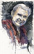 Watercolour Prints - Alex Print by Yuriy  Shevchuk