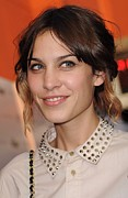 Studded Collar Framed Prints - Alexa Chung At Arrivals For Inglourious Framed Print by Everett