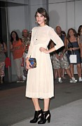 White Dress Prints - Alexa Chung At Arrivals For The Print by Everett