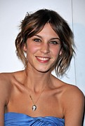 2000s Hairstyles Framed Prints - Alexa Chung At Arrivals For The Whitney Framed Print by Everett