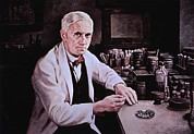 Laureates Framed Prints - Alexander Fleming 1881-1955 Framed Print by Everett