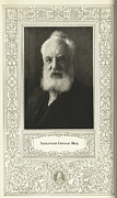 British Portraits Framed Prints - Alexander Graham Bell, British Inventor Framed Print by Science, Industry & Business Librarynew York Public Library