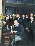Long Distance Framed Prints - Alexander Graham Bell Framed Print by Granger