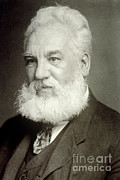 1876 Prints - Alexander Graham Bell Print by Photo Researchers