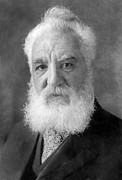 Historical Speech Posters - Alexander Graham Bell, Telephone Pioneer Poster by Humanities And Social Sciences Librarynew York Public Library