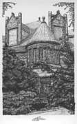New Jersey Drawings Originals - Alexander Hall by Pablo Riestra