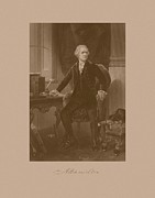 Treasury Posters - Alexander Hamilton Sitting At His Desk Poster by War Is Hell Store