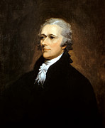 American Revolution Painting Metal Prints - Alexander Hamilton Metal Print by War Is Hell Store
