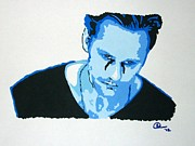 Television Paintings - Alexander Skarsgard 2 by Ashley Whitaker