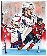 Alex Ovechkin Posters - Alexander The Great Poster by Dave Olsen