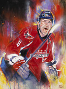 Hockey Player Painting Originals - Alexander the Great by Gary McLaughlin