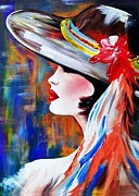 Hat Lady Framed Prints - Alexandra Framed Print by Jose Luis Reyes