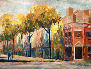 Alexandria Paintings - Alexandria King Street II by Christopher Clark