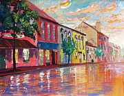 Alexandria Paintings - Alexandria King Street III by Christopher Clark