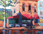 Alexandria Paintings - Alexandria King Street IV by Christopher Clark