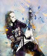 Splats Paintings - Alexi Laiho  by Rosalina Atanasova