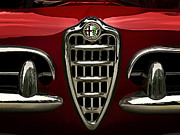 Alfa Red Print by Douglas Pittman