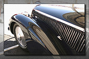 Kirkland Digital Art Prints - alfa romeo 8c 2900b featuring hood louvers - METAL PRINT RECOMMENDED Print by Curt Johnson