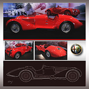 Kirkland Prints - Alfa Romeo 8c 2900b MM - METAL PRINT RECOMMENDED Print by Curt Johnson