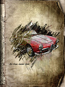 Smoke Mixed Media Posters - Alfa Romeo Poster by Svetlana Sewell