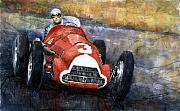 Racing Art - Alfa Romeo158 British GP 1950 Luigi Fagioli by Yuriy  Shevchuk
