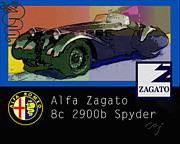 Kirkland Prints - Alfa Zagato 2900b Spyder Graphic Print by Curt Johnson