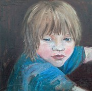 Daydreamer Paintings - Alfie by Jane Clatworthy