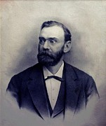 Philanthropists Framed Prints - Alfred Berhard Nobel 1833-1896 Swedish Framed Print by Everett