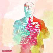 Psycho Acrylic Prints - Alfred Hitchcock Acrylic Print by Irina  March