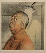 Iconic Portraits - Alfred Hitchcock The Shower by Gary Kaemmer