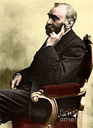 1833 Prints - Alfred Nobel, Swedish Chemist Print by Science Source