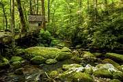 Gatlinburg Tennessee Digital Art Prints - Alfred Reagans Old Mill Print by Smokey Mountain  Art