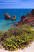 Algarve Coast In Spring Print by John McKinlay