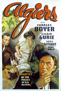 Hedy Framed Prints - Algiers, Charles Boyer, Hedy Lamarr Framed Print by Everett