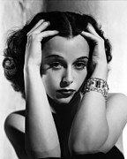Hedy Framed Prints - Algiers, Hedy Lamarr, Portrait Framed Print by Everett
