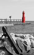 Algoma Lighthouse Is Anchored Print by Mark J Seefeldt