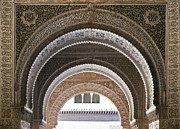 Islamic Photos - Alhambra arches by Jane Rix