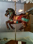 Horses Sculptures - Alhambra full body on brass pole by Luisa Leger