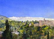 Margaret Merry Framed Prints - Alhambra Granada Framed Print by Margaret Merry
