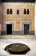 Arabic Posters - Alhambra inner courtyard Poster by Jane Rix