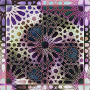 Moorish Digital Art - Alhambra Pattern by Hakon Soreide