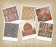 Carved Tile Posters - Alhambra textures Poster by Jane Rix