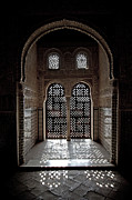 Ornate Metal Prints - Alhambra window Metal Print by Jane Rix