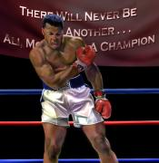 African American Male Painting Posters - Ali - More Than A Champion Poster by Reggie Duffie