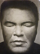 Athletes Drawings - Ali  by Adrian Pickett Jr