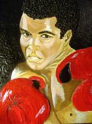 Keenya Woods Mixed Media Originals - Ali- I AM THE GREATEST by Keenya  Woods