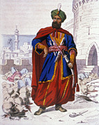 Turban Framed Prints - ALI KHOJA (d. 1818) Framed Print by Granger