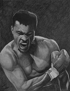 Boxing Drawings - Ali Praise by Timmy Jackson