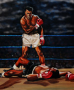 Boxing Gloves Painting Prints - Ali The Greatest Print by Cynthia Bluford